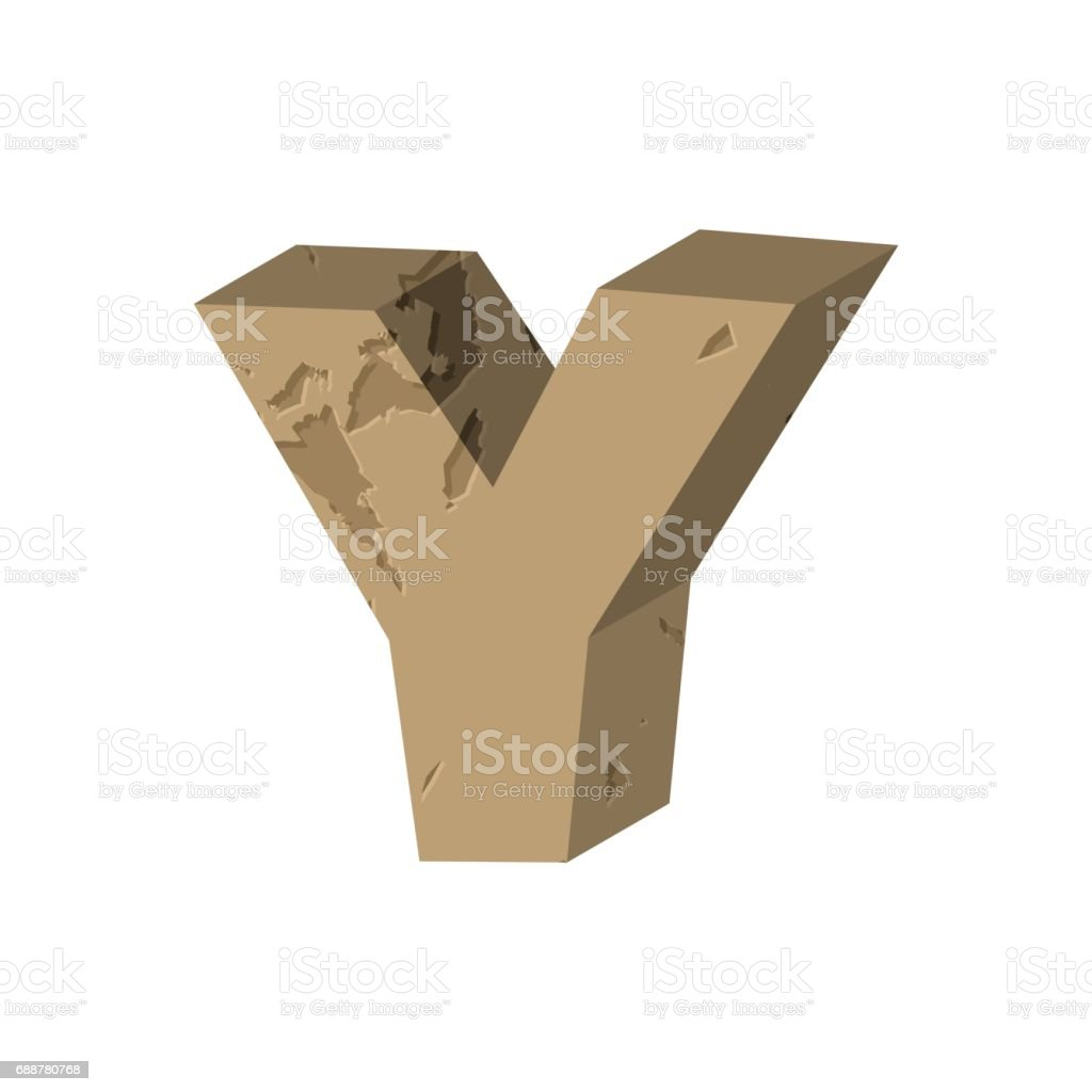 Letter Y Stone Font Rock Alphabet Symbol Stones Crag Abc Sign Stock