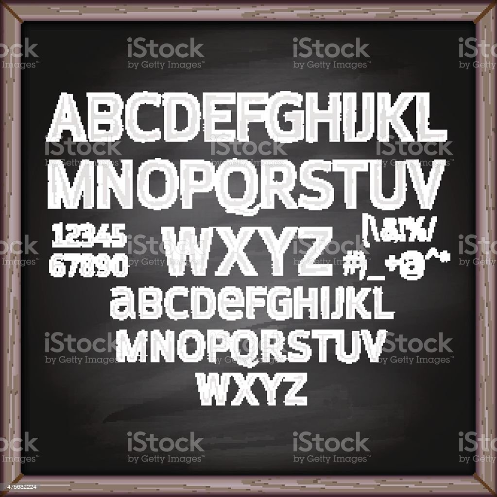 Lettering blackboard vector art illustration