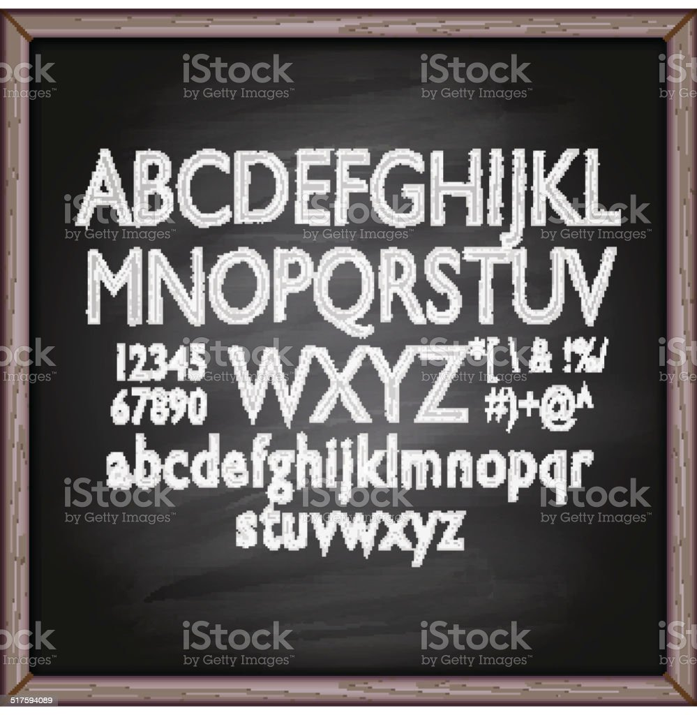 Lettering blackboard vector art illustration