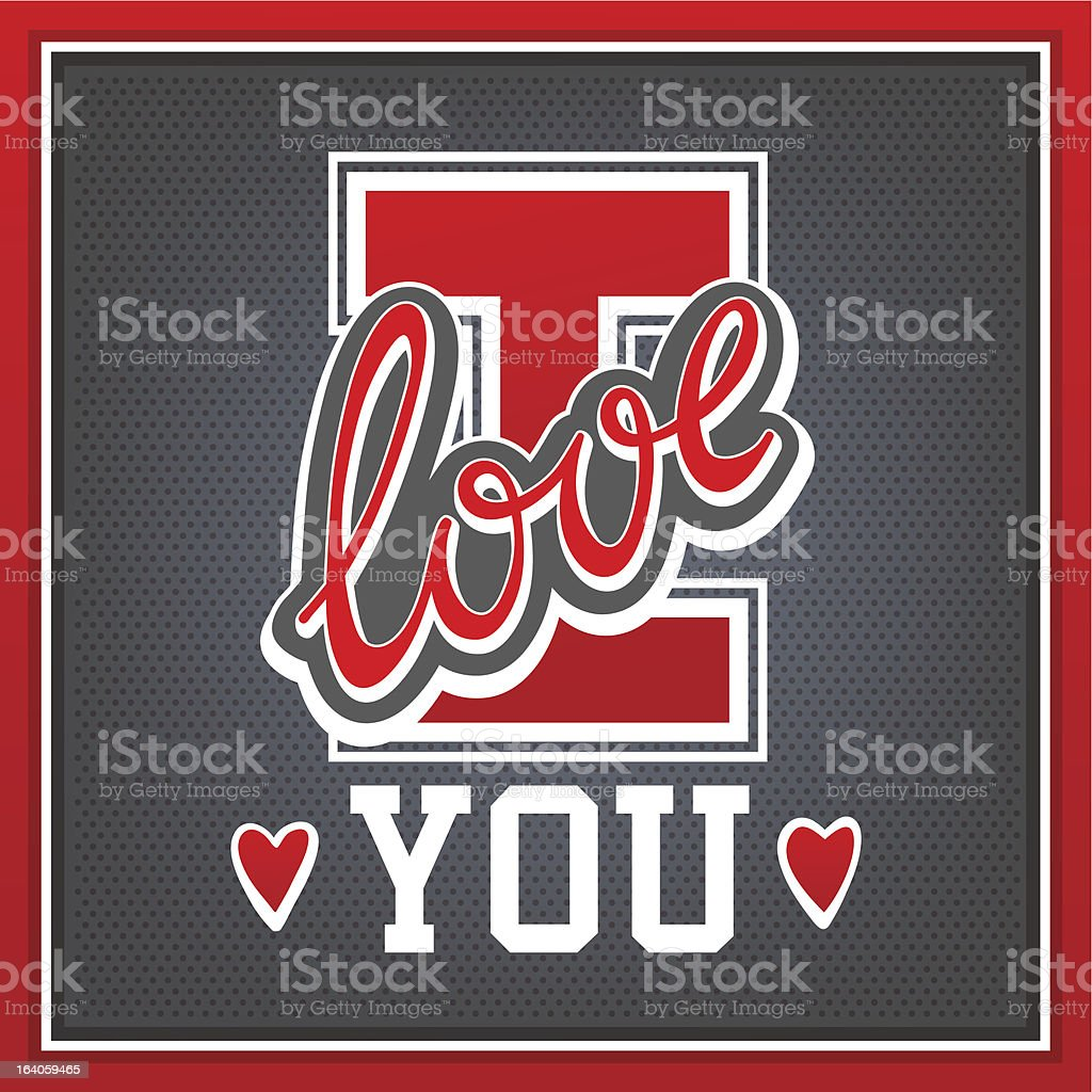 Lettering I Love You royalty-free stock vector art