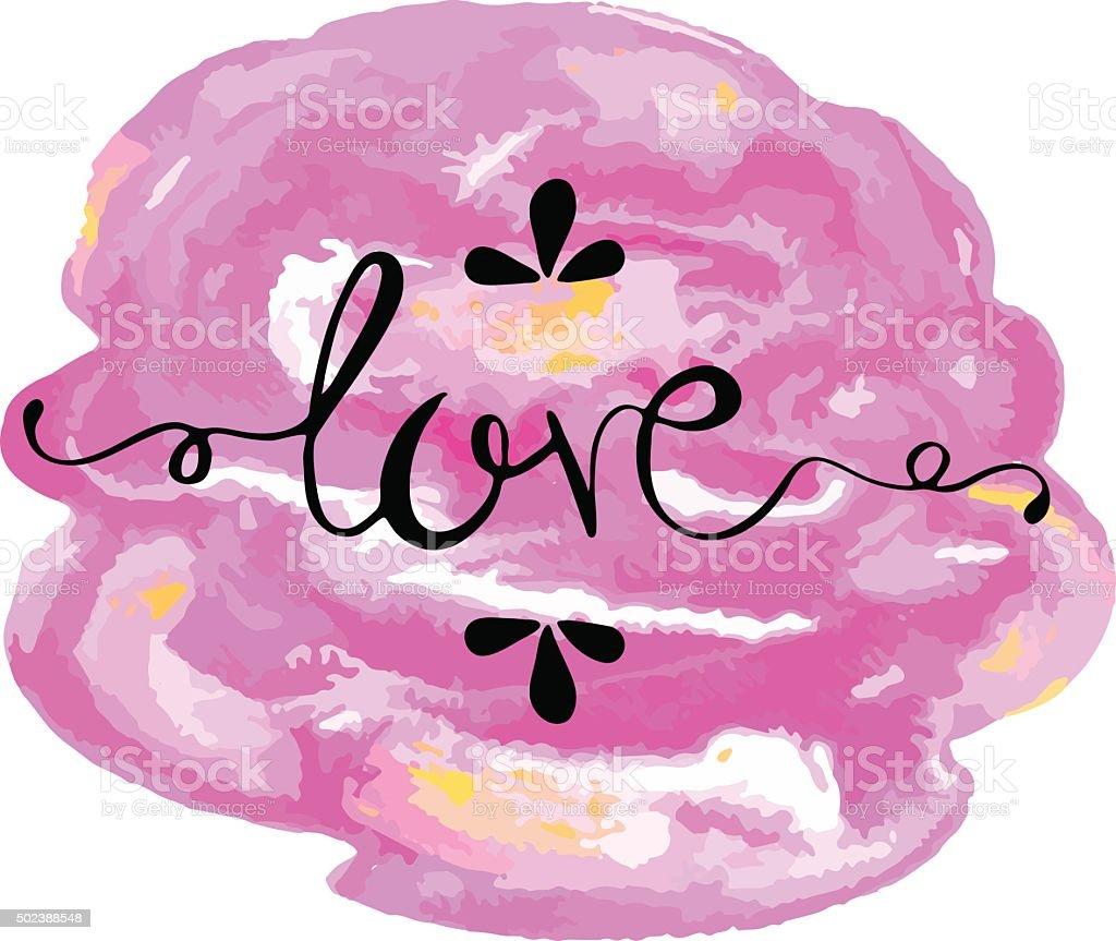 Lettering love vector art illustration