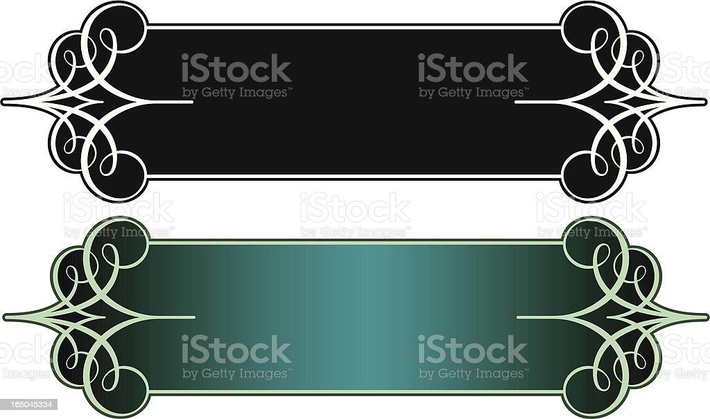 Lettering Panel Design royalty-free stock vector art