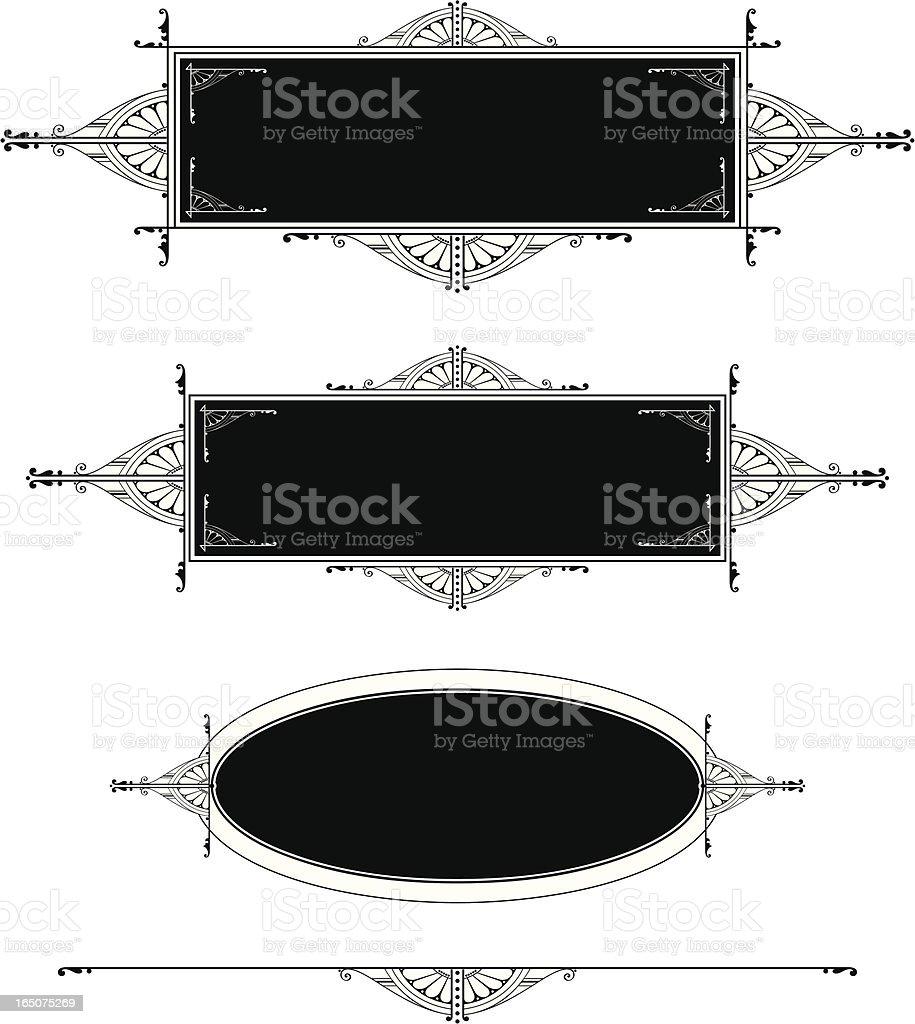 Lettering Panel Designs royalty-free stock vector art