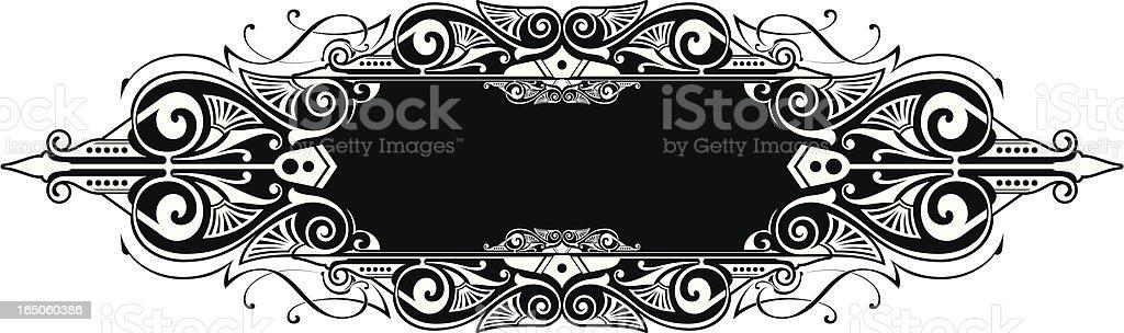 Lettering Panel royalty-free stock vector art