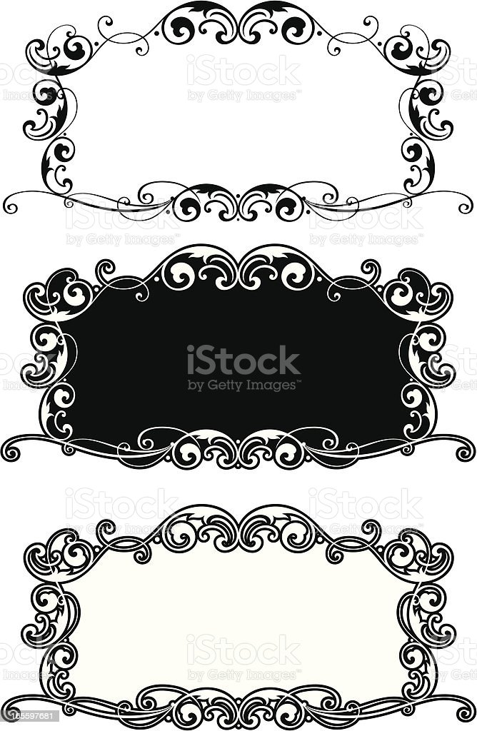 Lettering Scroll Panel royalty-free stock vector art