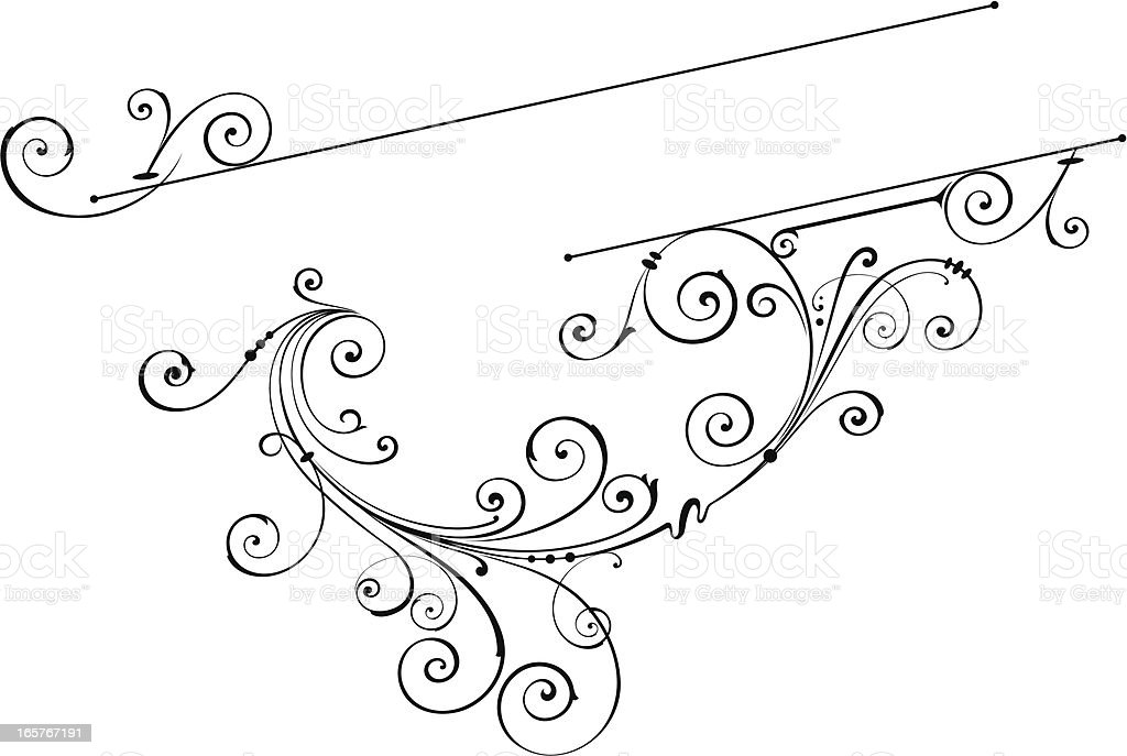 Lettering Scroll vector art illustration
