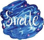 Lettering smile