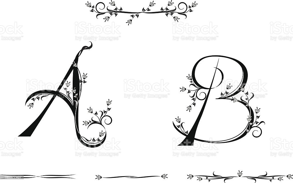 Letters A and B royalty-free stock vector art