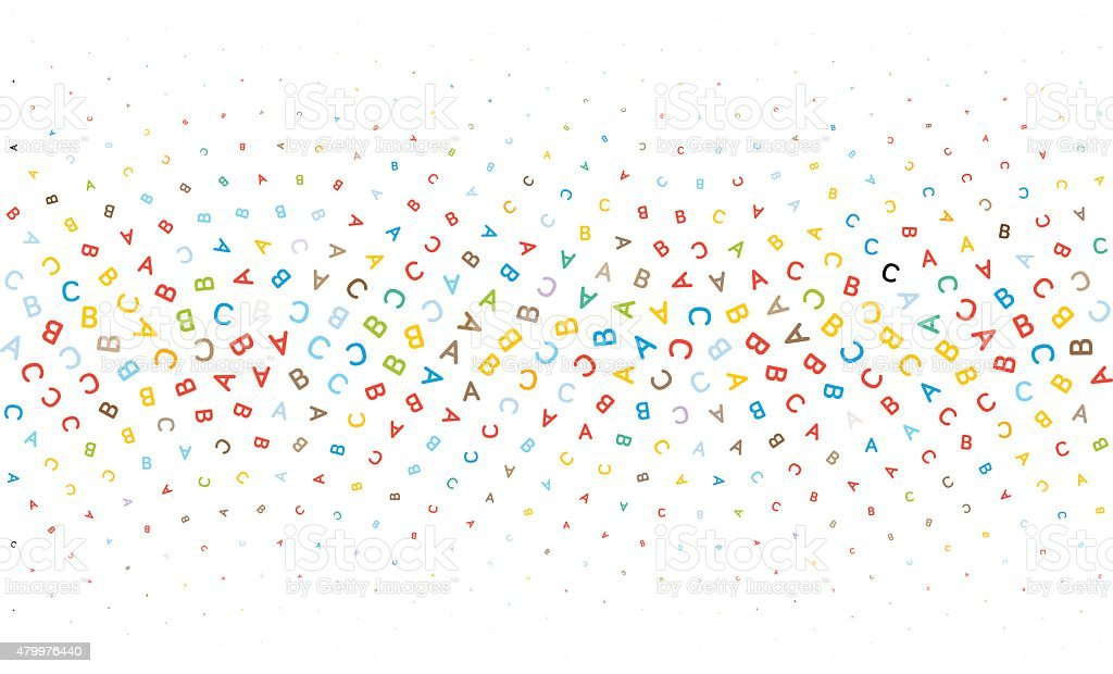 ABC Letters Background Texture vector art illustration