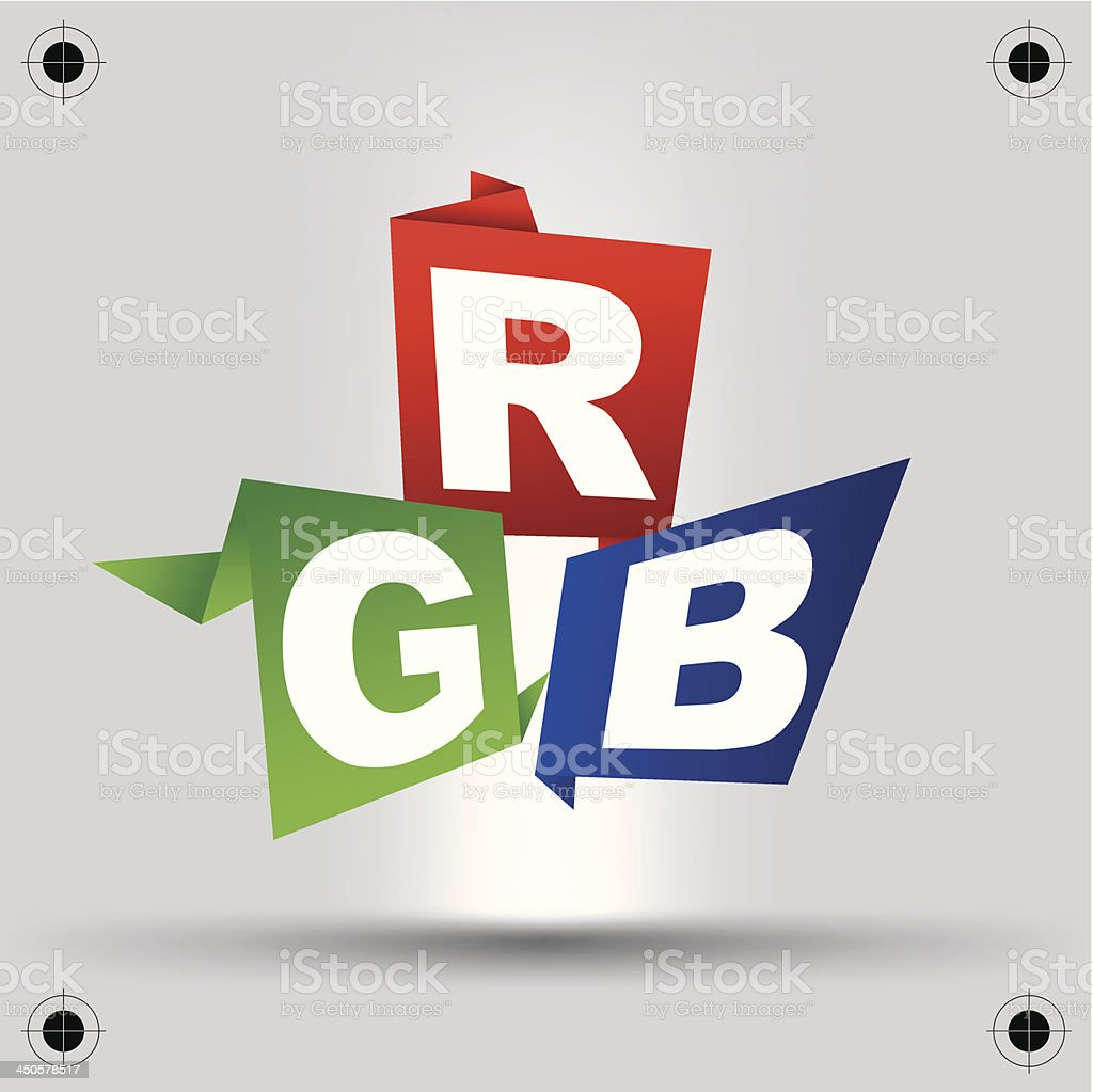 RGB letters design art image royalty-free stock vector art