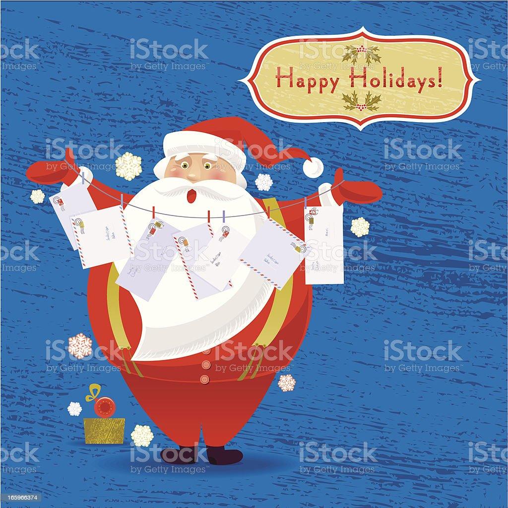 Letters for Santa royalty-free stock vector art