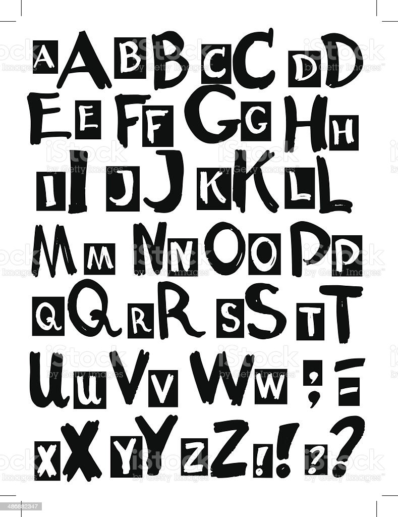 letters of the alphabet royalty-free stock vector art