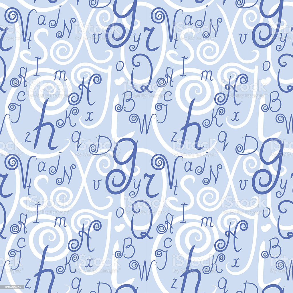 Letters. Seamless pattern. royalty-free stock vector art