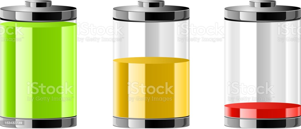 level of the battery charge royalty-free stock vector art