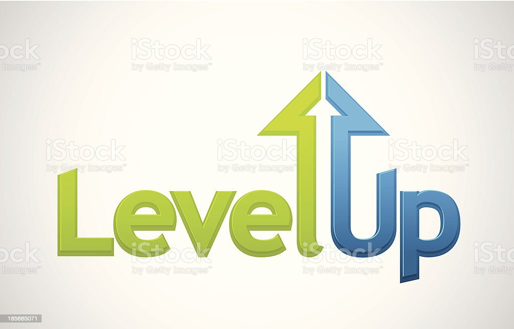 Level up message royalty-free stock vector art