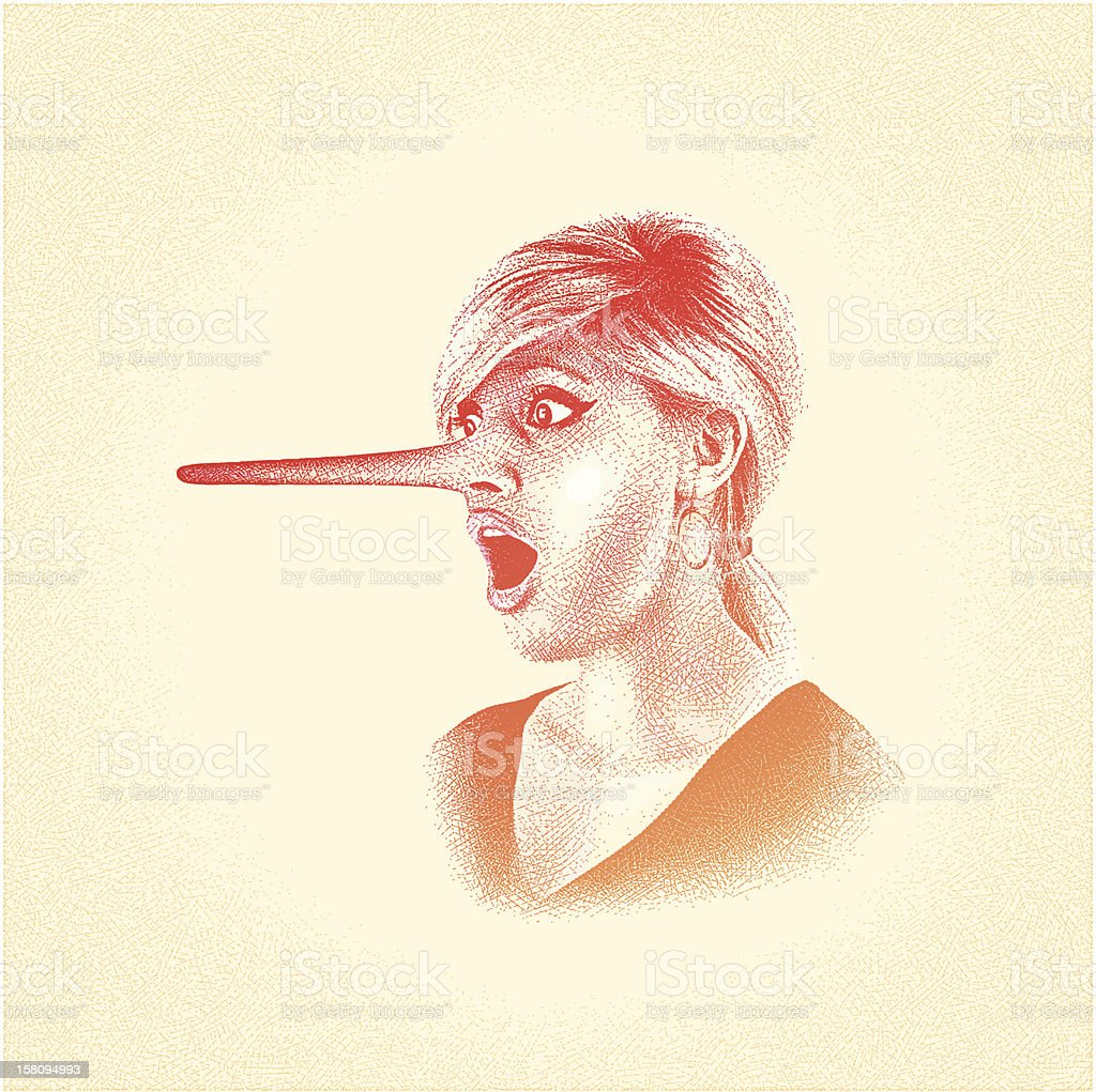 Liar vector art illustration