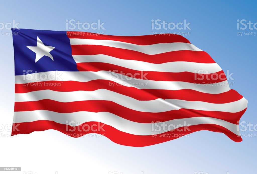 Liberia  Flag royalty-free stock vector art