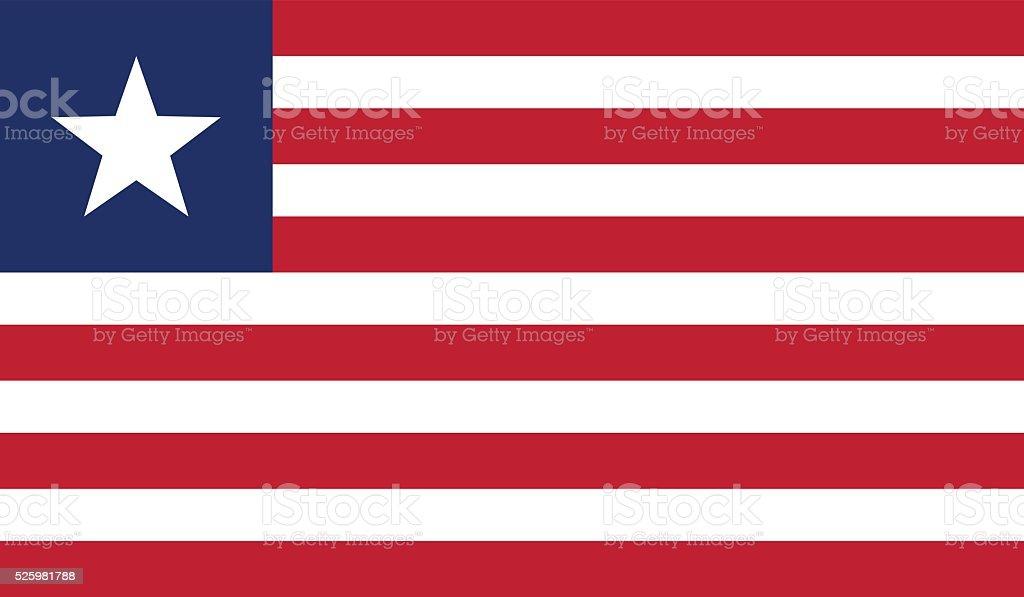Liberia Flag vector art illustration