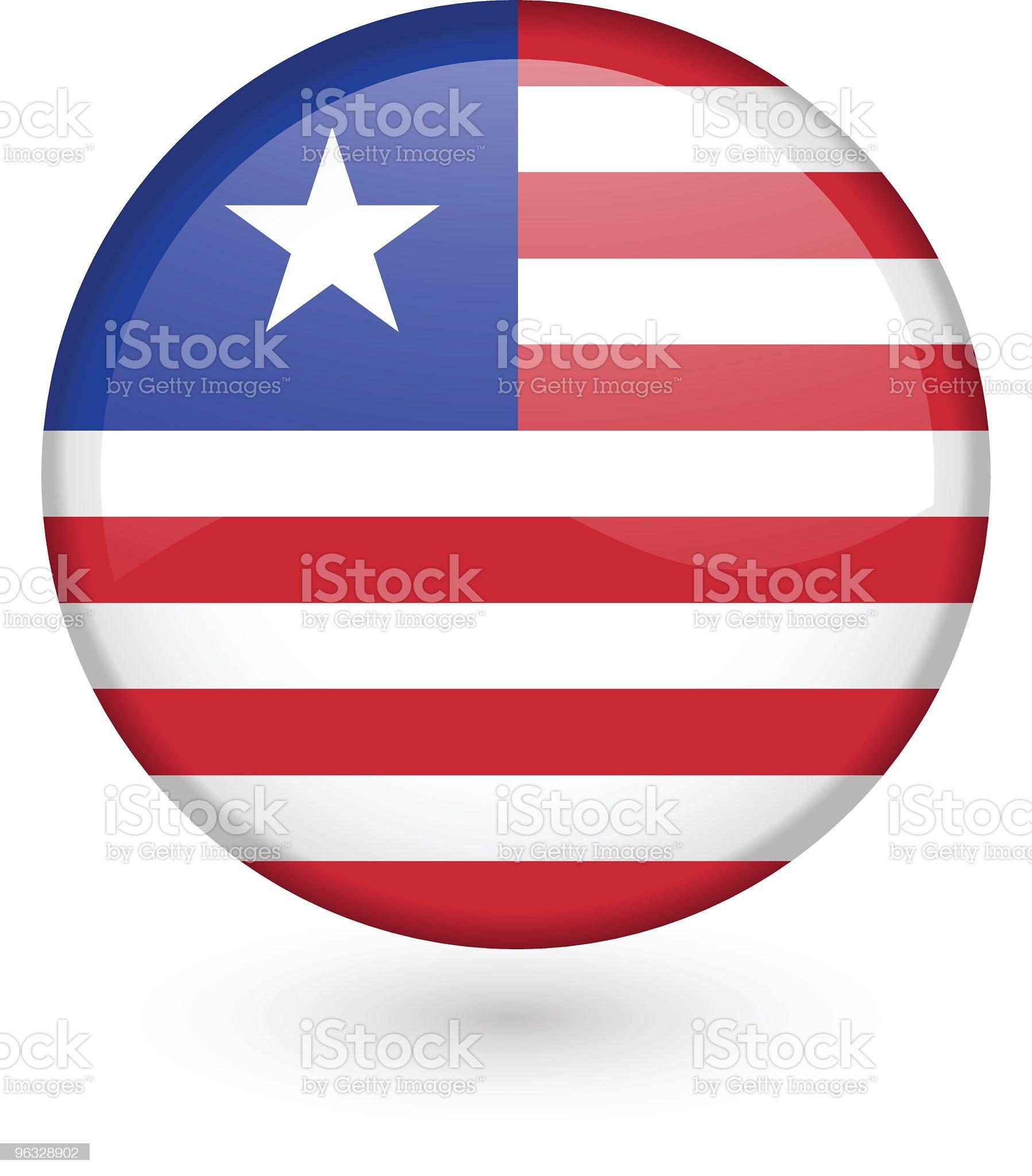 Liberian flag vector button royalty-free stock vector art