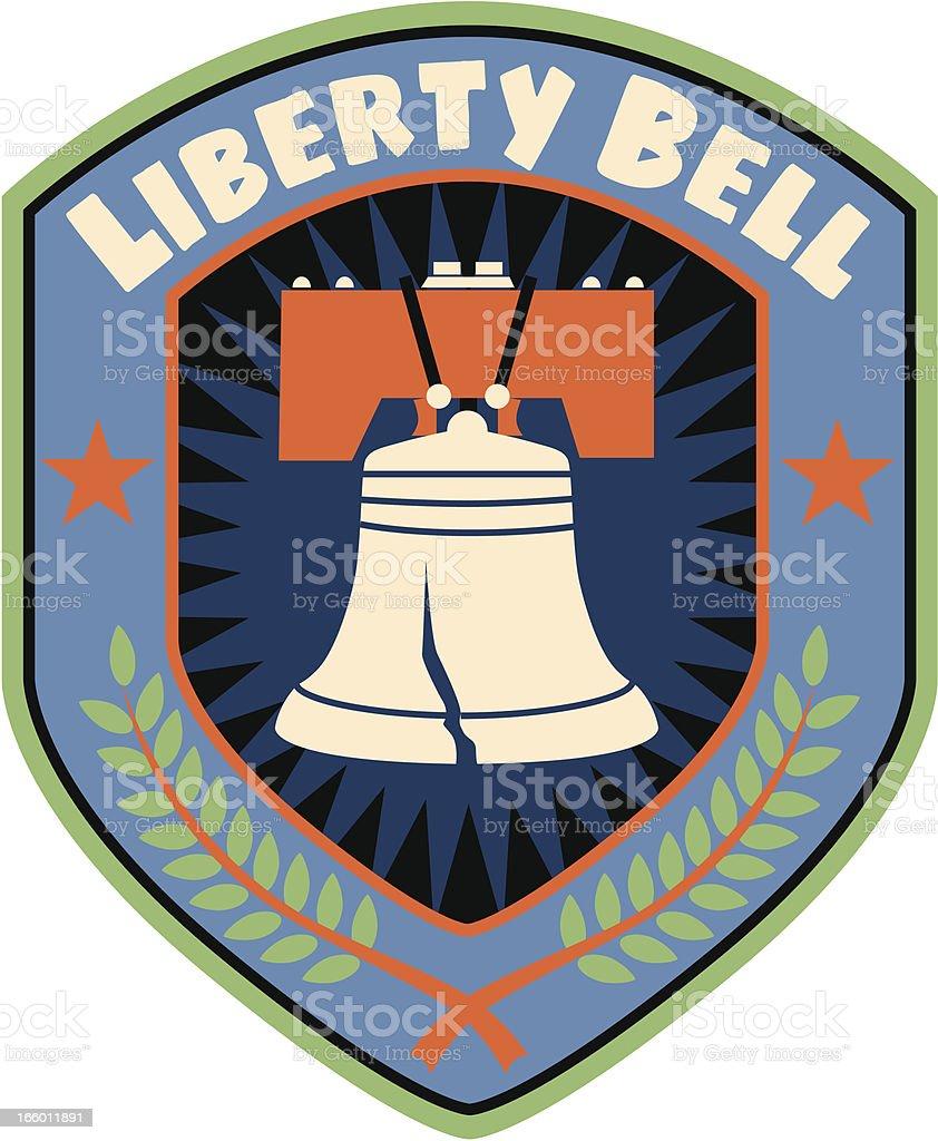 Liberty Bell shield royalty-free stock vector art