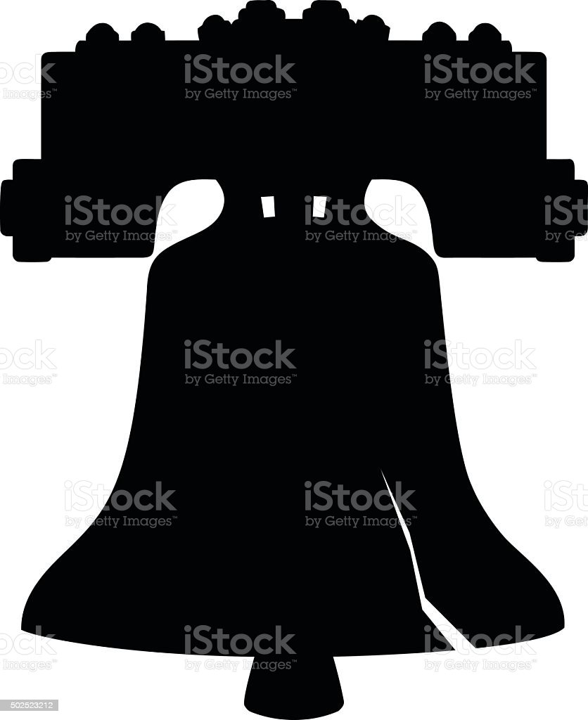 Liberty Bell  Silhouette vector art illustration