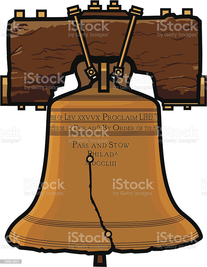Liberty Bell vector art illustration