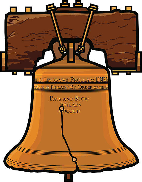 Liberty Bell Clip Art, Vector Images & Illustrations - iStock