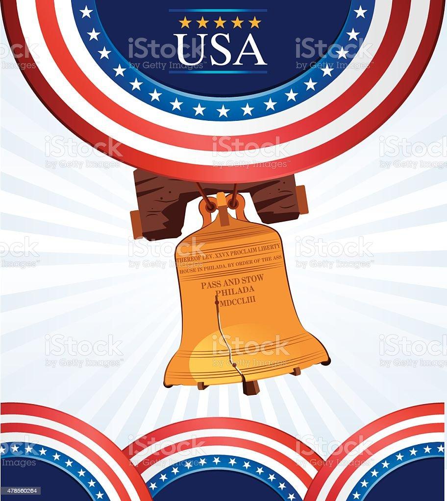 USA Liberty Bell vector art illustration