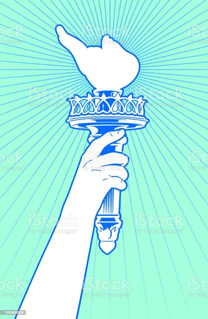 Liberty rays vector art illustration