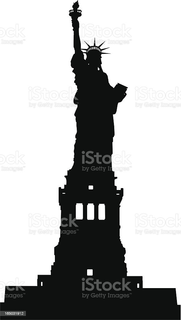 Liberty Statue Silhouette (Vector) royalty-free stock vector art