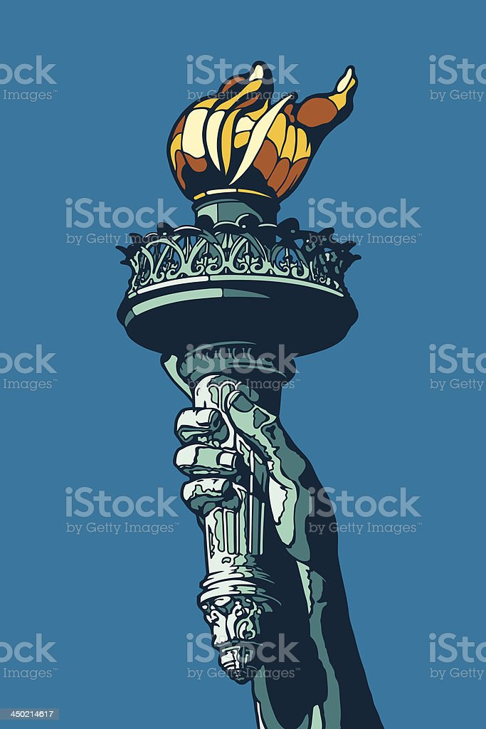 Liberty Torch. vector art illustration