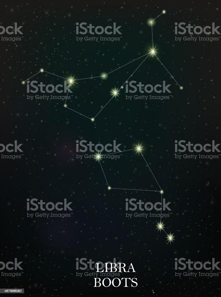 Signe de la balance et bottes constellation stock vecteur libres de droits libre de droits