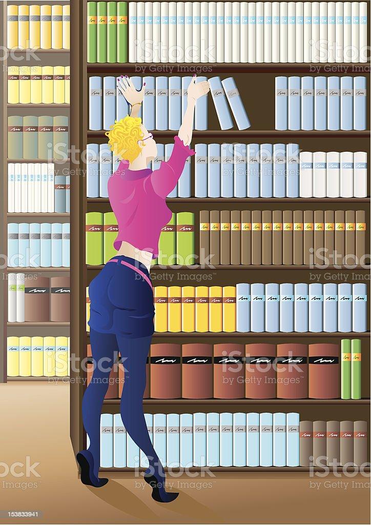 Librarian royalty-free stock vector art