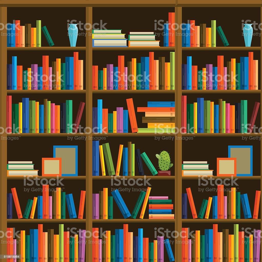 biblioteca con estantes para libros en libre de derechos libre