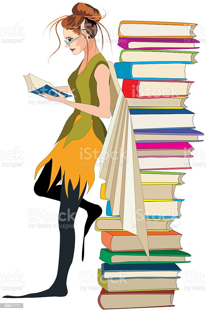 Library Fairy royalty-free stock vector art