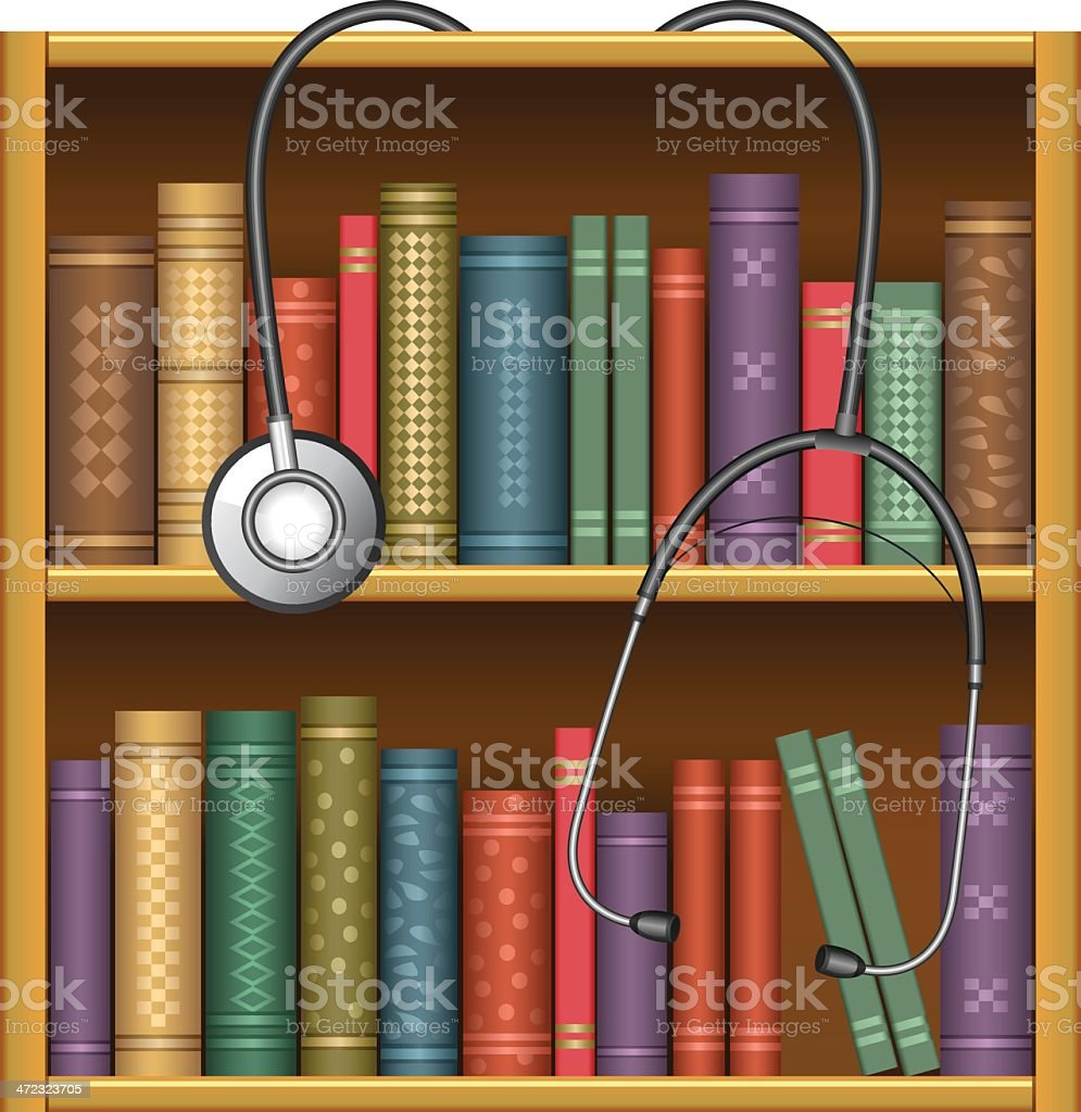 Library of medicine royalty-free stock vector art