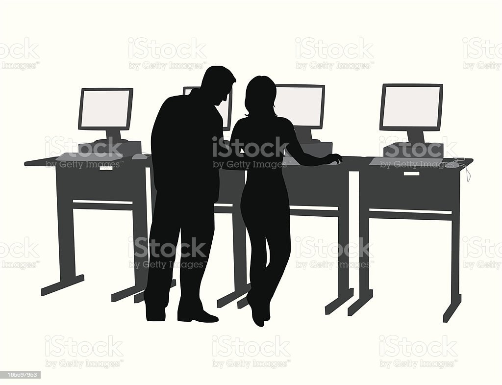 Library Search Vector Silhouette royalty-free stock vector art