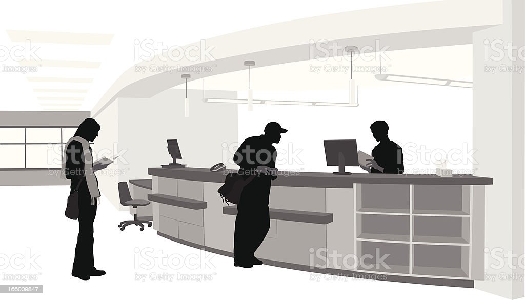 Library Services vector art illustration