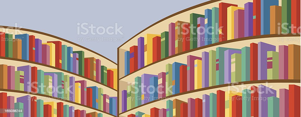 Library Shelves royalty-free stock vector art