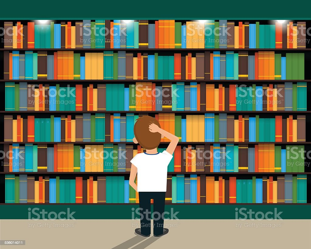 Library vector art illustration