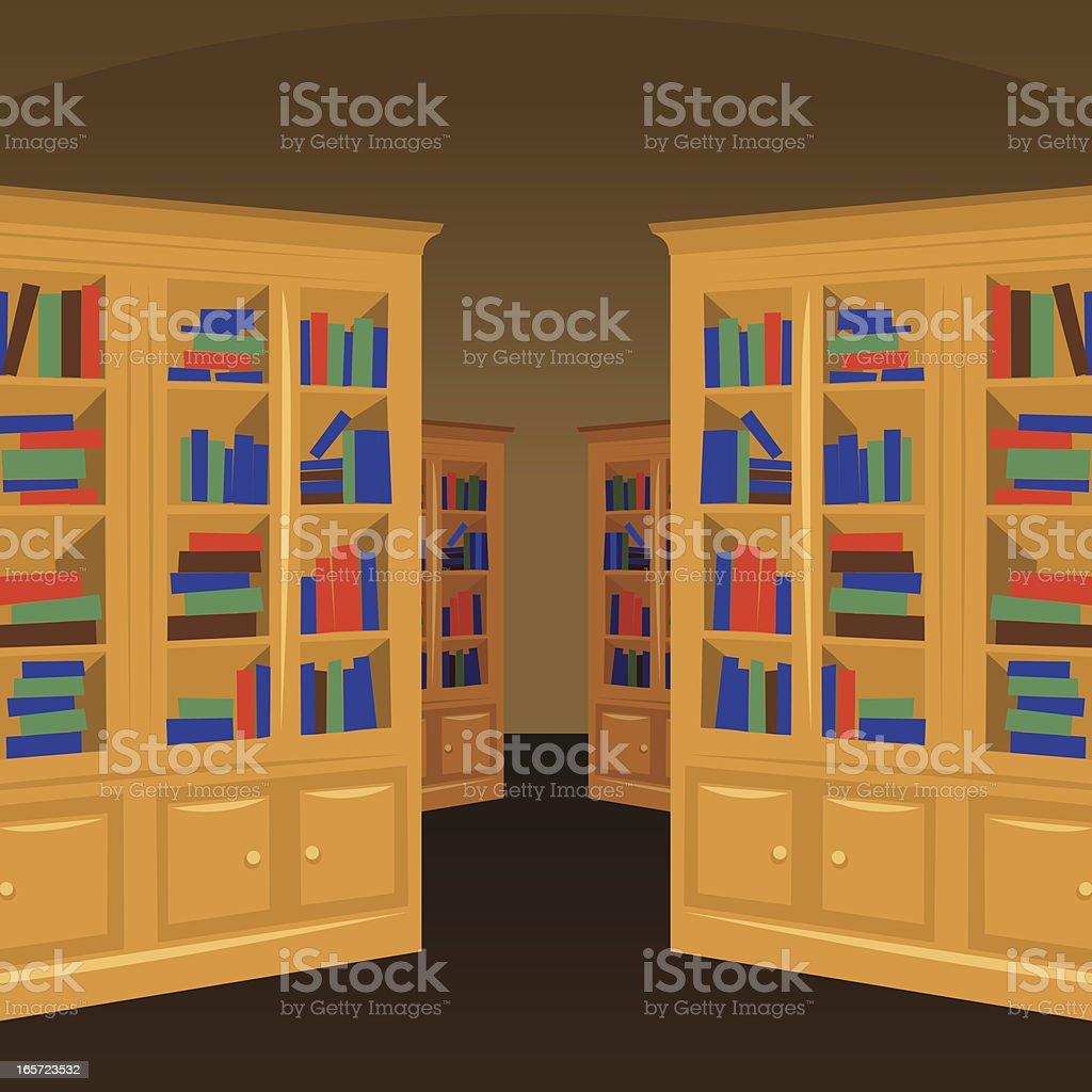 Interior wooden shelves free vector - Library Vector Interior Royalty Free Stock Vector Art