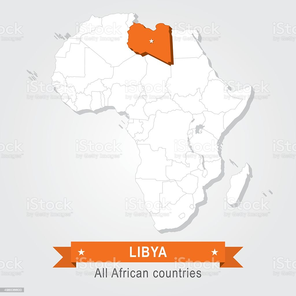 Libya. All the countries of Africa. vector art illustration