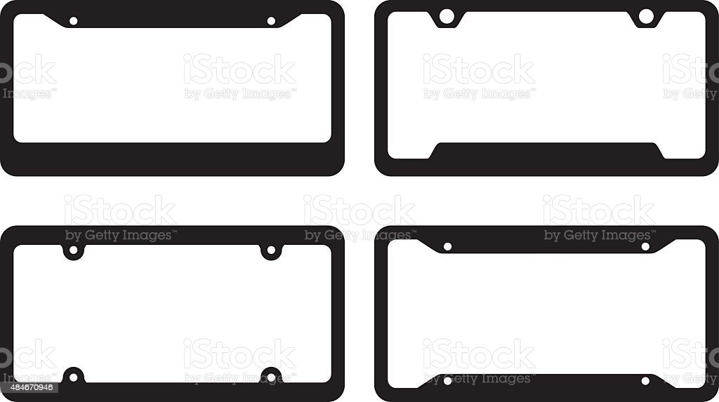 License Plate Frames vector art illustration
