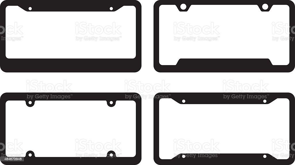License Plate Frames vector art illustration