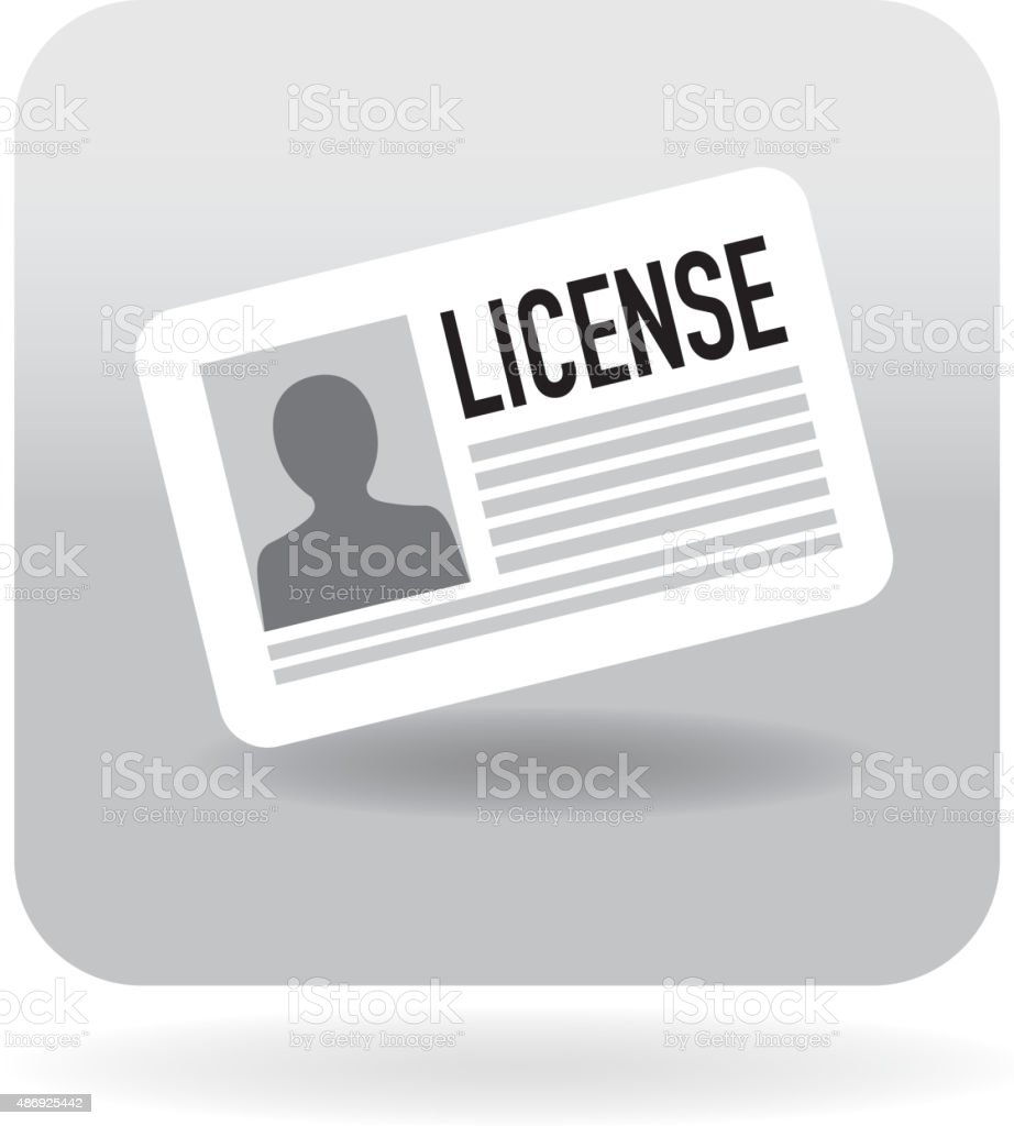License template icon vector art illustration