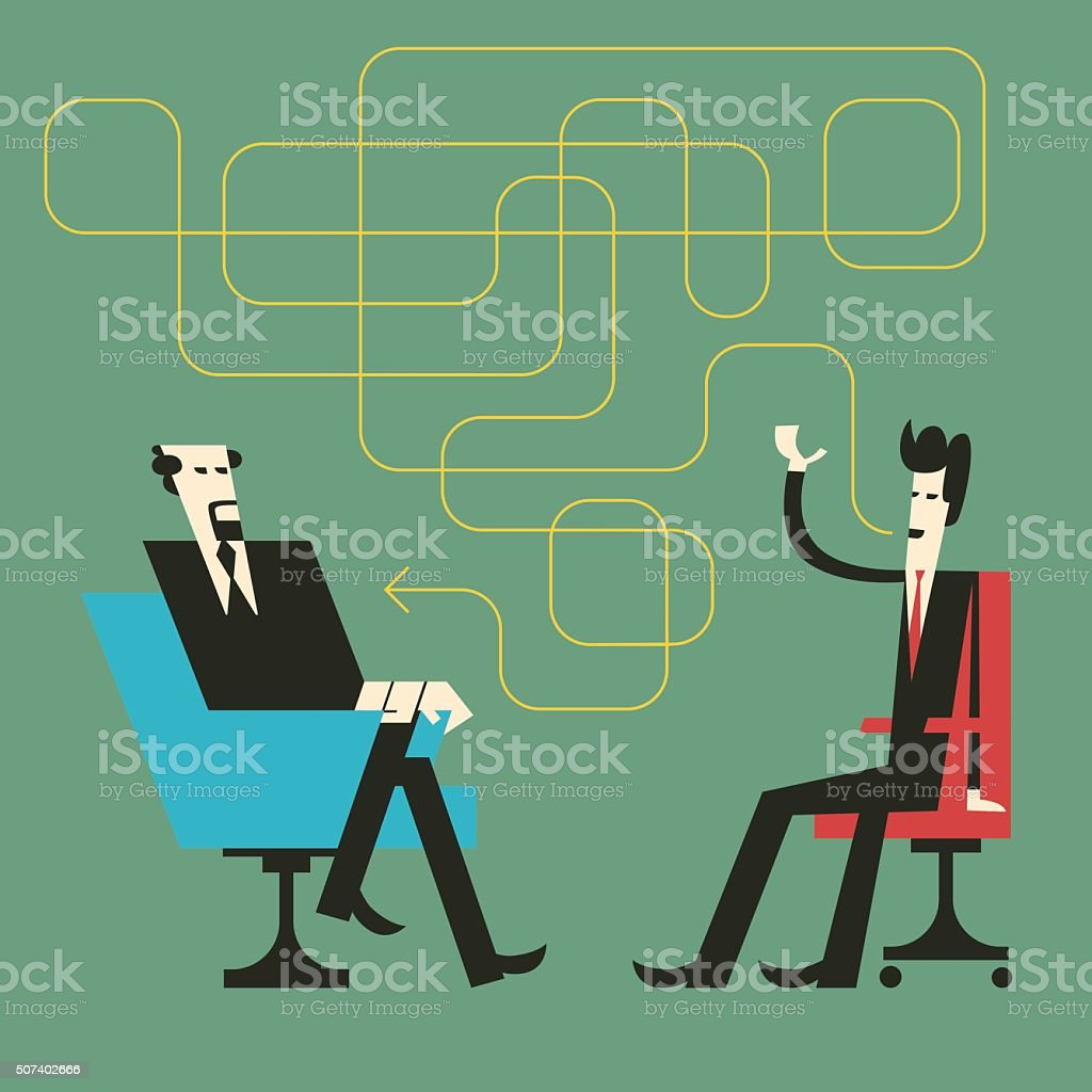 Lies on Job Interview vector art illustration