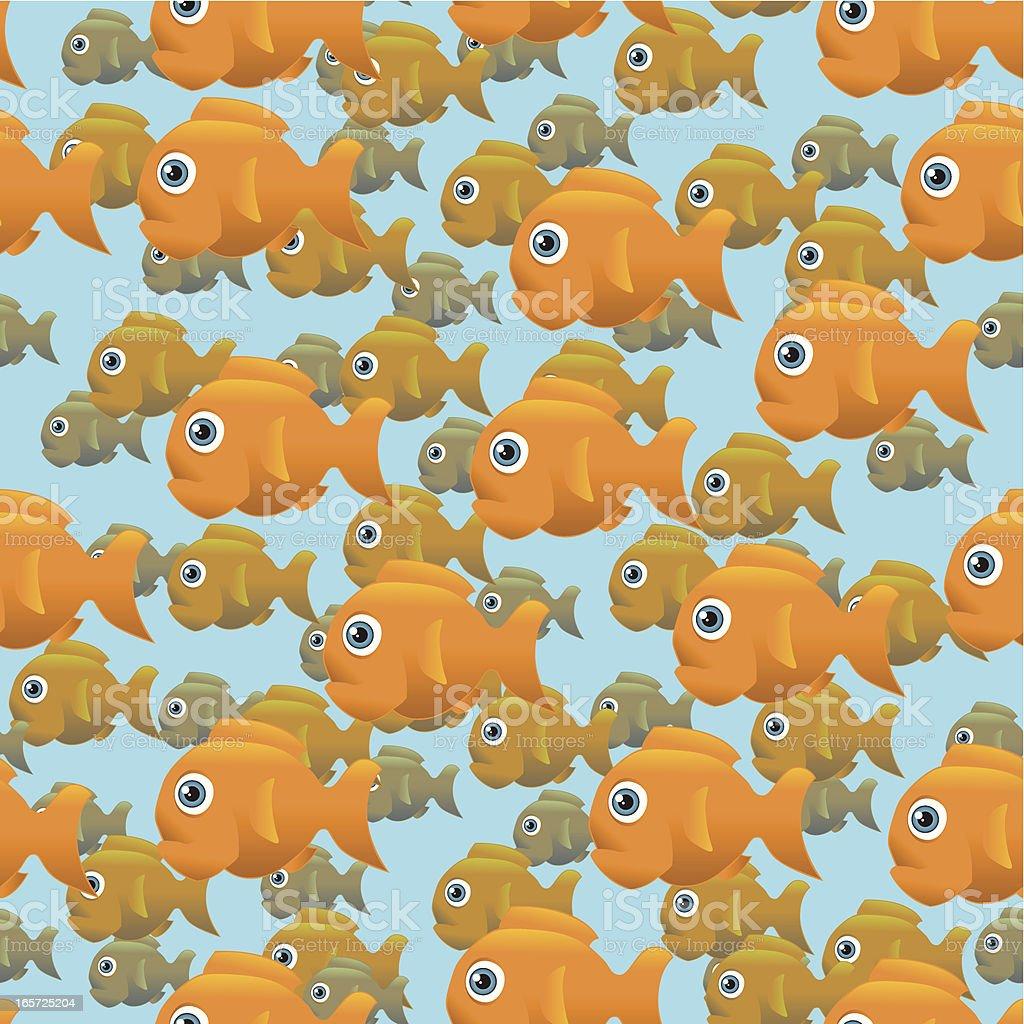Life Aquatic - Pattern, School of Fish royalty-free stock vector art