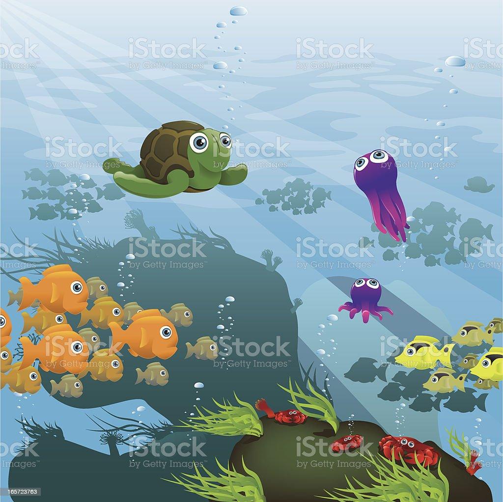 Life Aquatic - Reef royalty-free stock vector art