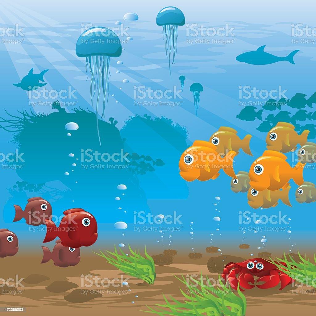 Life Aquatic - Seafloor - Illustration royalty-free stock vector art