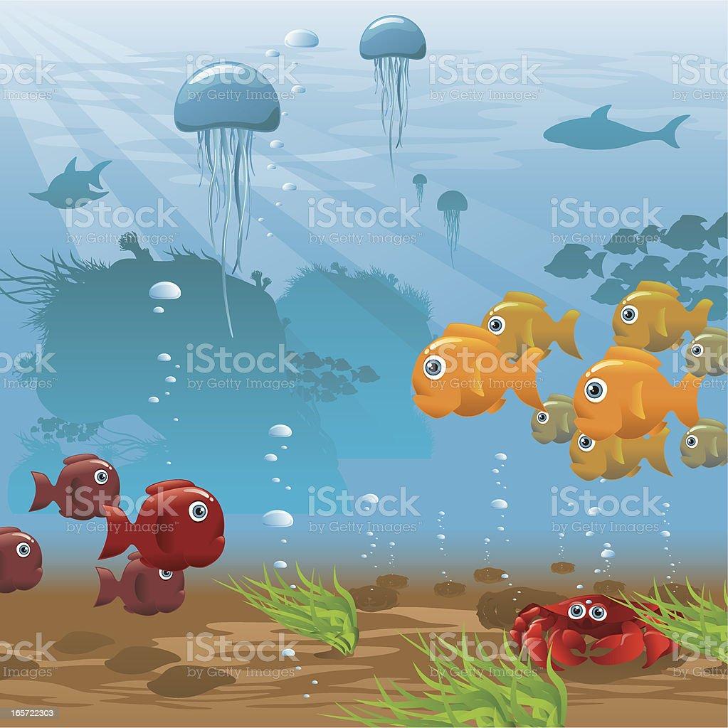 Life Aquatic - Seafloor vector art illustration